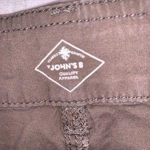 St. John's Bay Pants - St. John's Bay Khaki Capris Cargo Plus Size 22